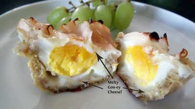 Breakfast in a Muffin Tin! A tasty way to make your breakfast meal a baby's meal too.