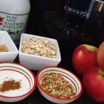 Ingredients for Inside Out Crockpot Apple Crisp