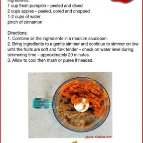 Homemade Apples & Pumpkin Puree Baby Food Recipe