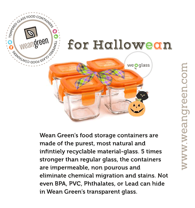 Glass Baby Food Storage Containers Wean Green for Hallo wean