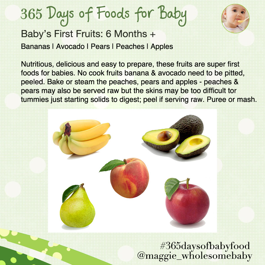 Day 7 First Fruits For Baby 365 Days Of Food