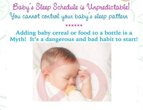 Adding Cereal or Food to a Bottle will NOT Help Baby Sleep – 365 Days of Baby Food