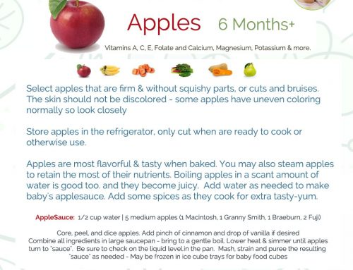 Day 35 – Apples for Baby Food at Stage 1 and 6 Months of Age- 365 Days of Baby Food